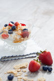 Parfait and berries Royalty Free Stock Photos