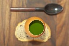 Parfait del prezzemolo con il cucchiaio Fotografia Stock