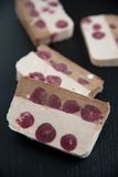Parfait della ciliegia e del cioccolato Fotografie Stock