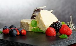 Parfait Dessert. With forest berries Stock Image
