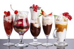 Parfait - desserts posés Images libres de droits