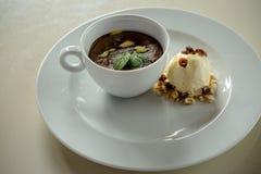 Parfait do chocolate Foto de Stock Royalty Free