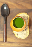 Parfait with parsley extract Stock Images