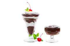 Parfait and pudding Royalty Free Stock Images