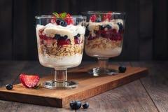 Parfait saudável do iogurte Fotos de Stock