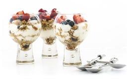 Parfaits Granola и плодоовощ югурта Стоковое Изображение RF