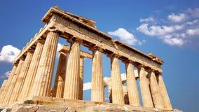 Parfenon,古希腊寺庙,位于雅典卫城 影视素材
