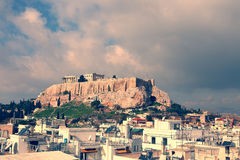 The Parfenon, the Acropolis of Athens, Greece Stock Photo