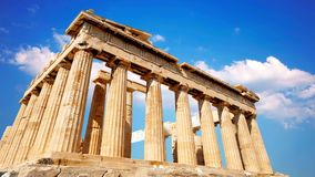 Parfenon, templo del griego clásico, situado en la acrópolis de Atenas metrajes