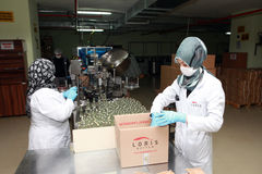 Parfüm-Fabrik in der Türkei Lizenzfreie Stockbilder
