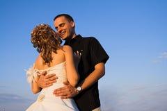 parförbindelsebröllop Royaltyfri Foto
