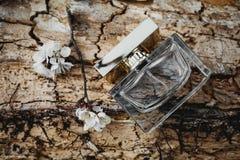 Parfum avec des fleurs de ressort Image libre de droits