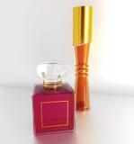 Parfum bottles. Pair of elegant parfum bottles Stock Image