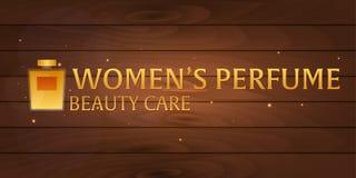Parfum du ` s de Logo Women Soin de beauté Bouteille classique de parfum Aromatherapy de luxe liquide de parfum Illustration de v Photos libres de droits
