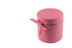 Parfum in een leerdoos Royalty-vrije Stock Foto