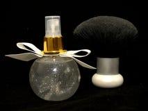 Parfum en borstel Royalty-vrije Stock Afbeelding
