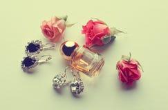 Parfum et diamants Image stock