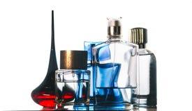 Parfum op wit Stock Foto's