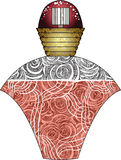 Parfum. Vector illustration of a bottle of parfum Stock Image