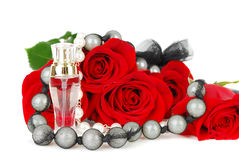 Parfume and roses Royalty Free Stock Images