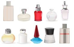 Parfume vector Stock Images