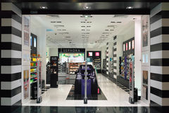 Parfumerieopslag Stock Foto