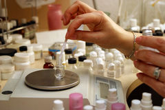parfumeur royalty-vrije stock afbeelding