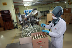 Parfumfabriek in Turkije Stock Foto