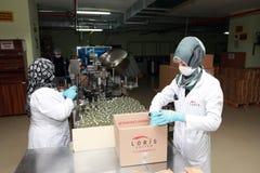 Parfumfabriek in Turkije Royalty-vrije Stock Afbeeldingen