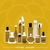 Parfuminzameling Royalty-vrije Illustratie