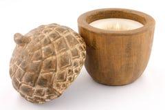 parfymerad form för ekollonstearinljus Arkivfoto