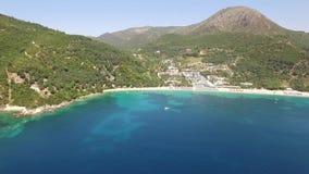 Parga,希腊空中录影  股票录像