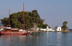 Parga bay in Greece stock photo