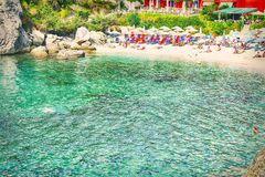 Parga beach Royalty Free Stock Images
