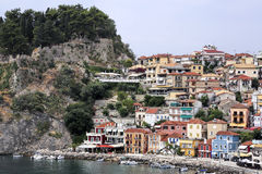 Parga city, greece Stock Images