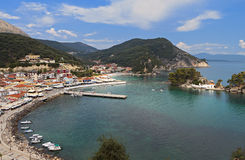 Parga city in Greece Royalty Free Stock Image