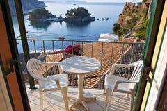Parga city in Greece royalty free stock photos