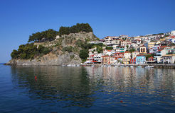 Parga city in Greece Stock Photography
