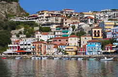 Parga city in Greece Stock Image