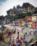 Parga, Epiro, Grecia Fotografia Stock