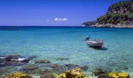 Parga - ett turist- paradis i Grekland royaltyfria bilder