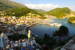 Parga, Grecia fotografia stock libera da diritti