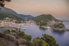 Parga in Grecia, Prevesa, Epiro, Grecia - Mar Ionio immagine stock libera da diritti