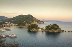 Parga Grecia, Prevesa, Epiro, Grecia - Mar Ionio immagine stock libera da diritti