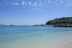 Parga, Grecia - spiaggia di Valtos - Mar Ionio fotografia stock libera da diritti