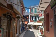 Amazing summer view of town of Parga, Epirus, Greece. PARGA, GREECE - JULY 17, 2014: Amazing summer view of town of Parga, Epirus, Greece Stock Photos
