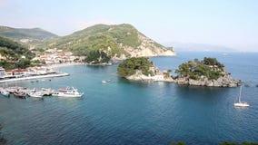 Parga Greece landscape. Summer season stock video footage
