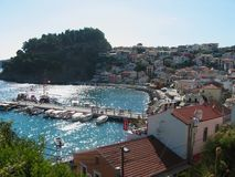 Parga Harbour Preveza Greece. Europe Royalty Free Stock Photography