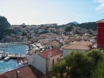 Parga Harbour Preveza Greece. Europe Royalty Free Stock Images