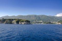 Parga marino ionico, Prevesa, Epiro, Grecia immagini stock libere da diritti